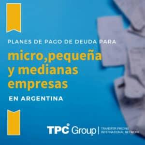 Planes de pago deuda en Argentina