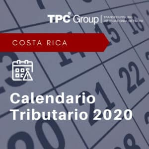 Calendario Tributario 2020 en Costa Rica
