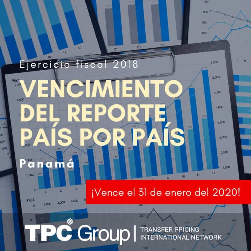 Vencimiento del Reporte País por País del ejercicio fiscal 2018 en PANAMÁ
