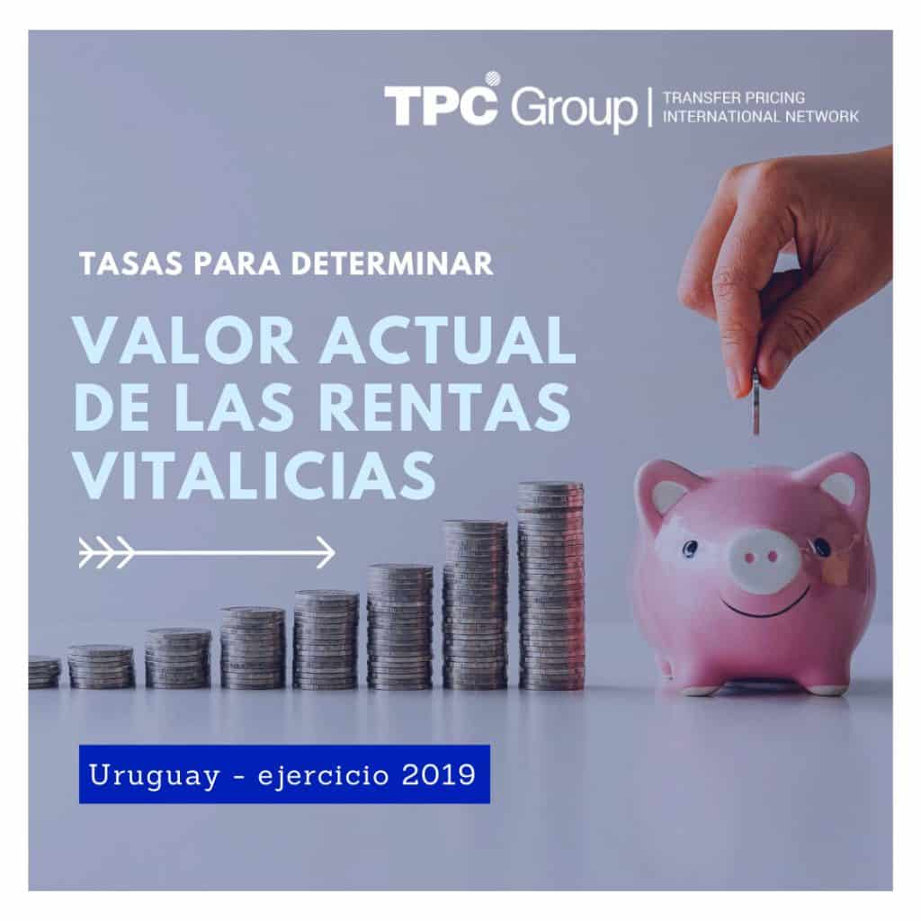 Para el ejercicio 2019, fijan las tasas aplicables para determinar el valor actual de las rentas vitalicias