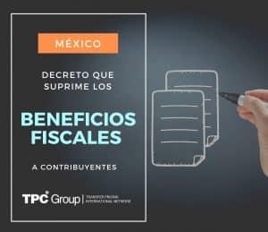 Decreto para eliminar los decretos por los que se otorgaron beneficios fiscales a los contribuyentes