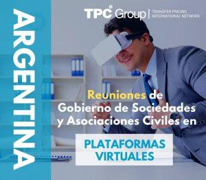 Reuniones de gobierno y asociaciones el plataformas virtuales en Argentina