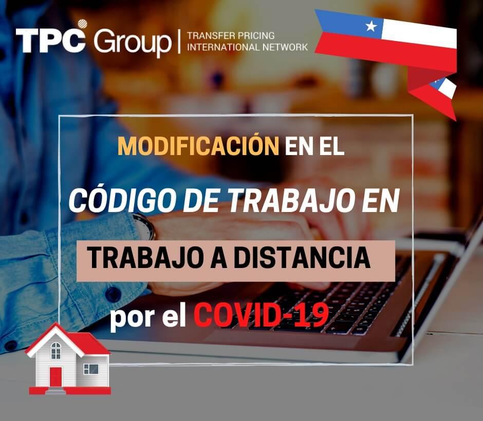 Modificación en el código de trabajo en trabajo a distancia por el covid-19 en Chile