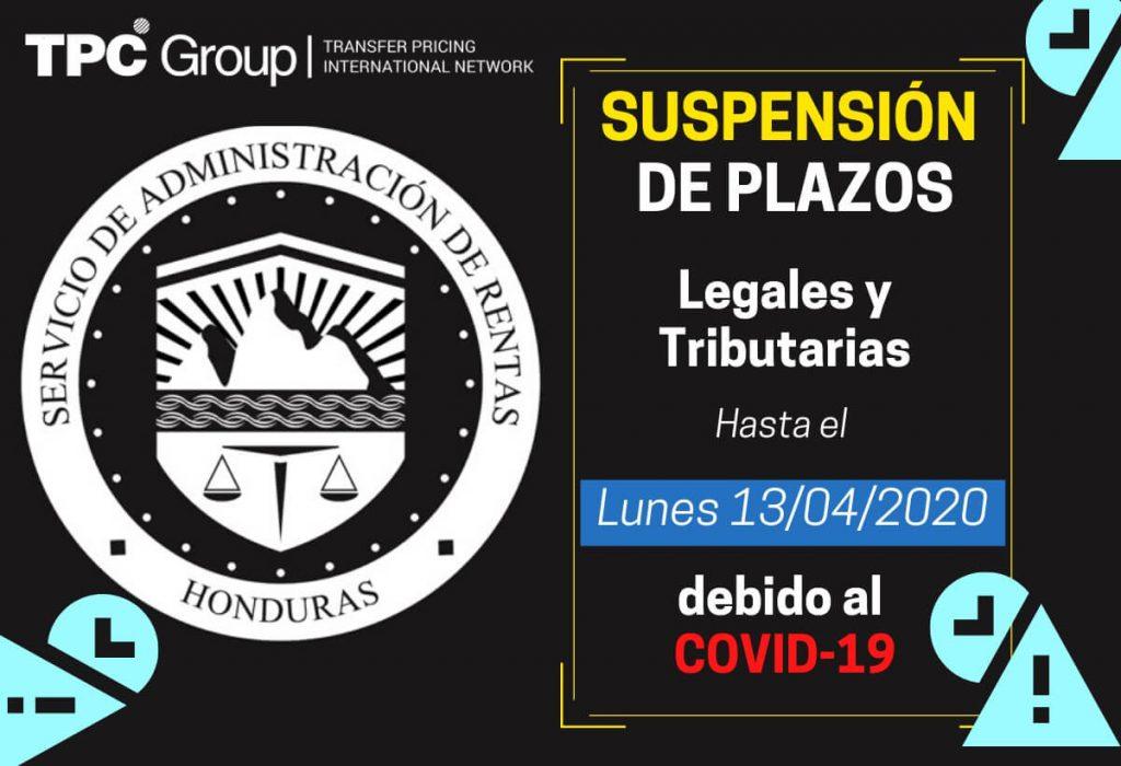 Suspensión de plazos Legales y Tributarios en Honduras