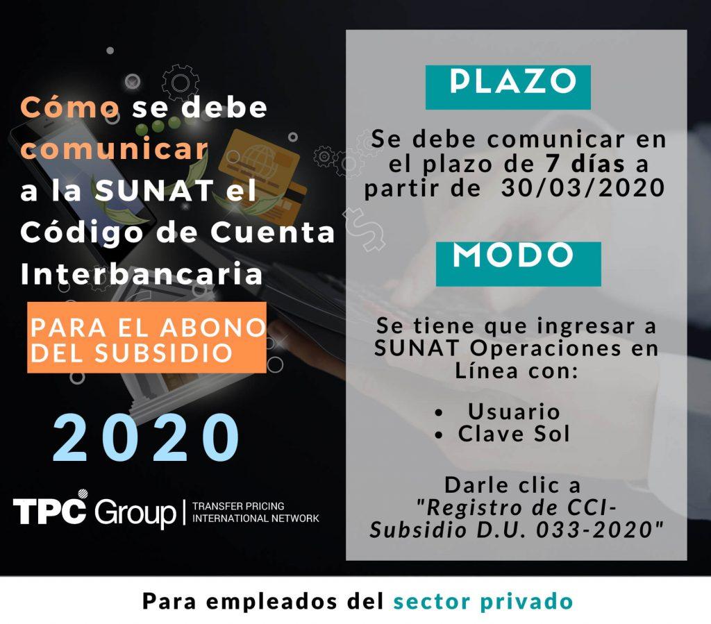 TPC Subsidio SUNAT
