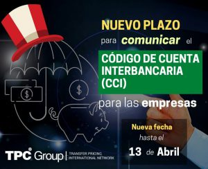 Nuevo Plazo para Comunicar el CCI