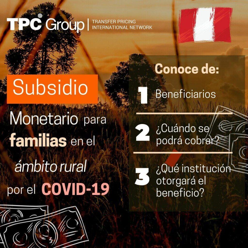 Otorgamiento De Subsidio Monetario Para Disminuir La Afectación Económica