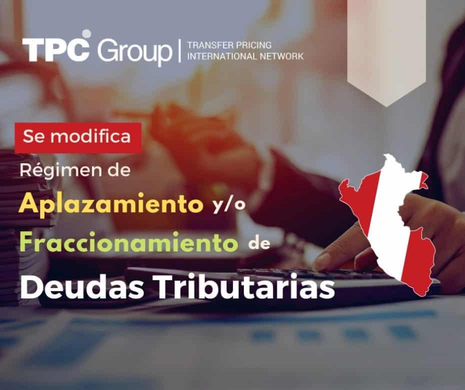 SE ESTABLECE EL RÉGIMEN DE APLAZAMIENTO Y/O FRACCIONAMIENTO DE LAS DEUDAS TRIBUTARIAS EN PERÚ