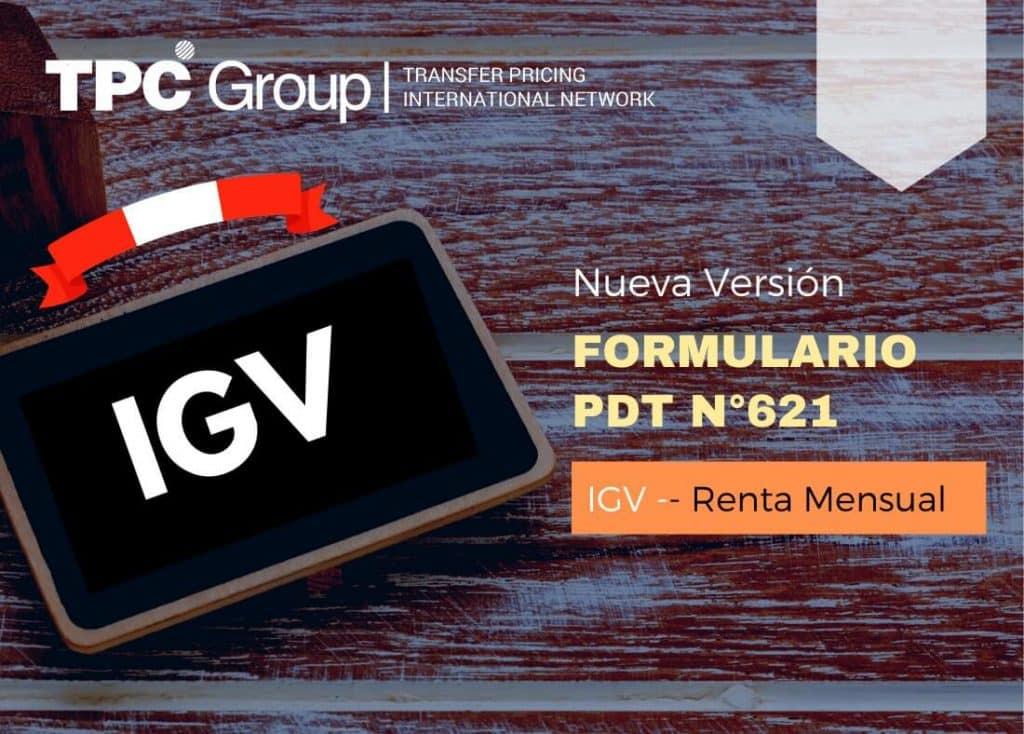 SE APRUEBA NUEVA VERSIÓN DEL FORMULARIO PDT N° 621 IGV-RENTA MENSUAL