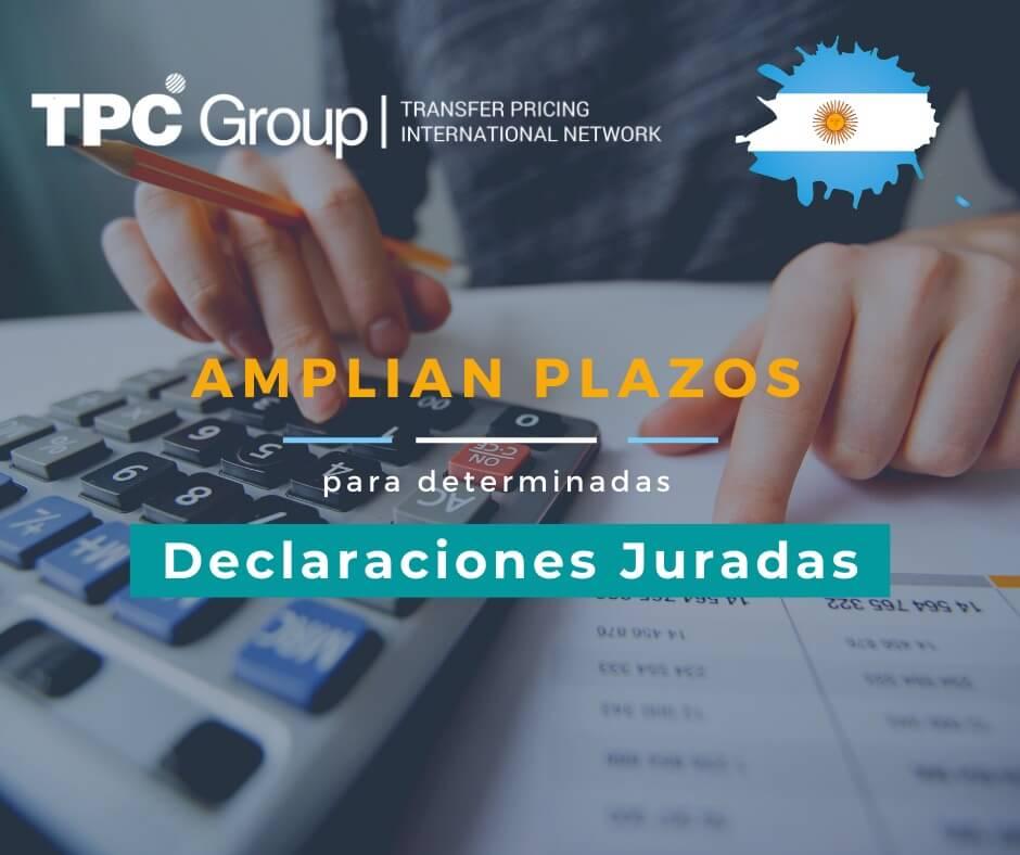 ESTABLECEN PLAZOS ESPECIALES PARA DETERMINADAS DECLARACIONES JURADAS EN ARGENTINA