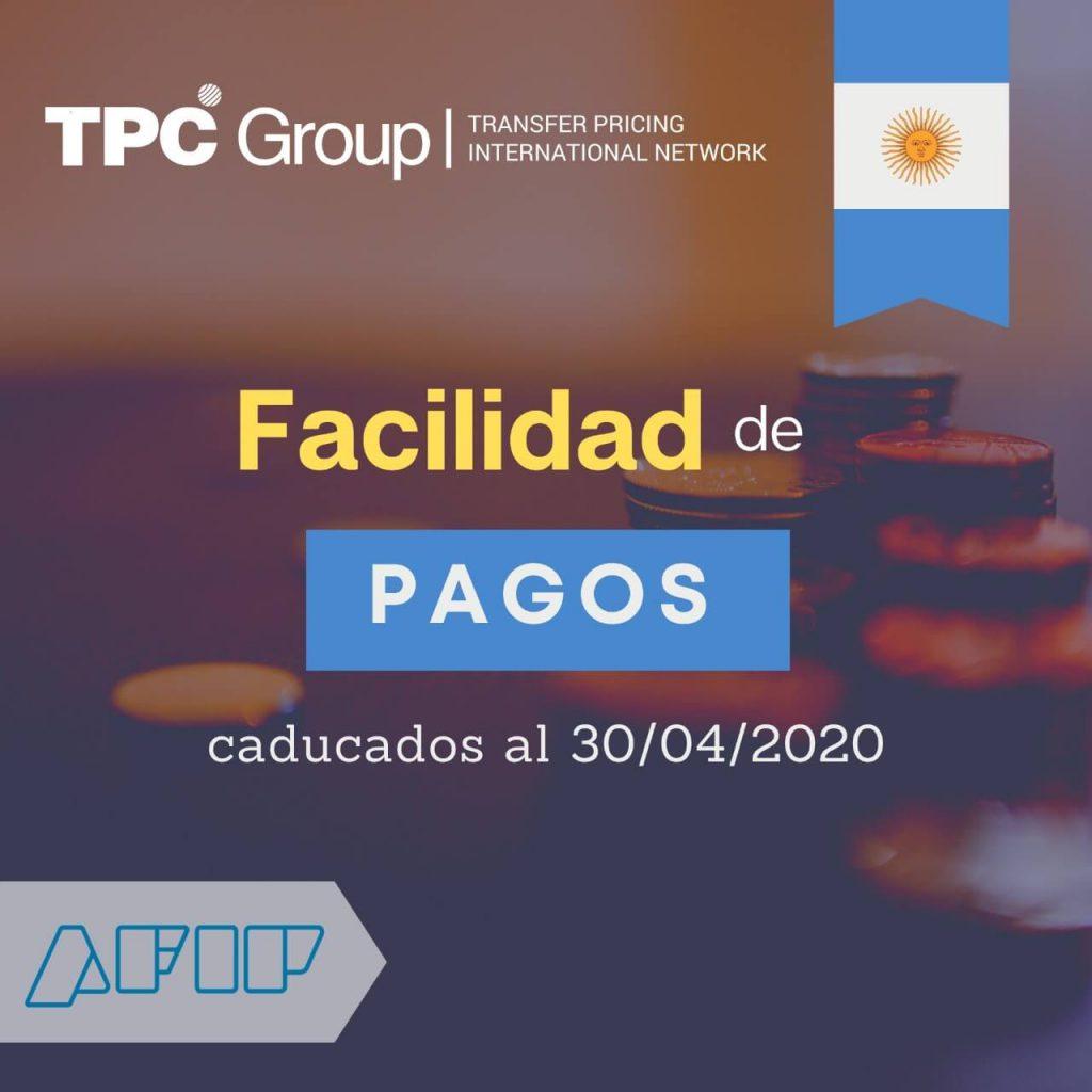 FACILIDADES PARA PAGOS CADUCOS AL 30 DE ABRIL EN ARGENTINA