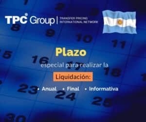 Establece plazo pára realizar la liquididación anual final o informativa en Argentina