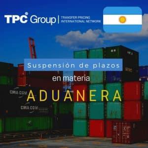 Suspensión de plazos en materia Aduanera en Argentina