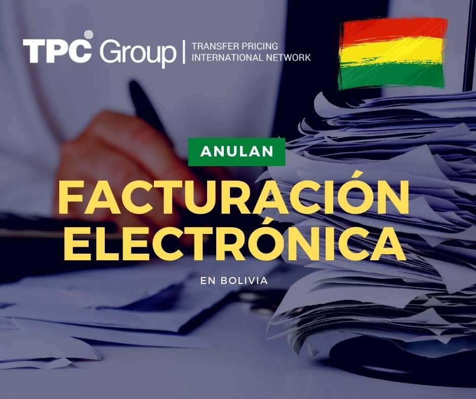 ABROGAN SISTEMA DE FACTURACIÓN ELECTRÓNICA EN BOLIVIA