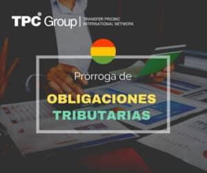 PRÓRROGA DE CUMPLIMIENTO DE OBLIGACIONES TRIBUTARIAS EN BOLIVIA