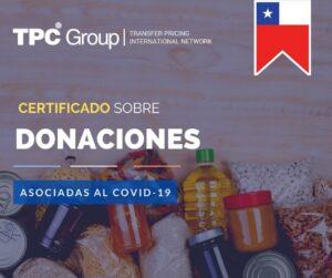 SE CREA MODELO DE CERTIFICADO N° 66 SOBRE DONACIONES ASOCIADAS AL BROTE MUNDIAL DEL COVID-19 EN CHILE