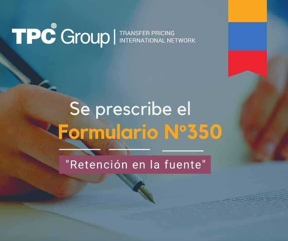 ESTABLECEN EL FORMULARIO N° 350
