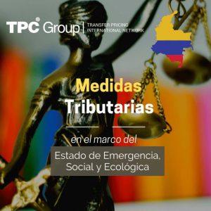 Medidas tributarias transitorias en el marco del estado de emergencia nacional 1 en Colombia