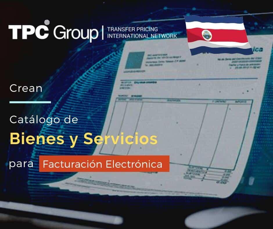 Crean catalogo para facturación electrónica en Costa Rica