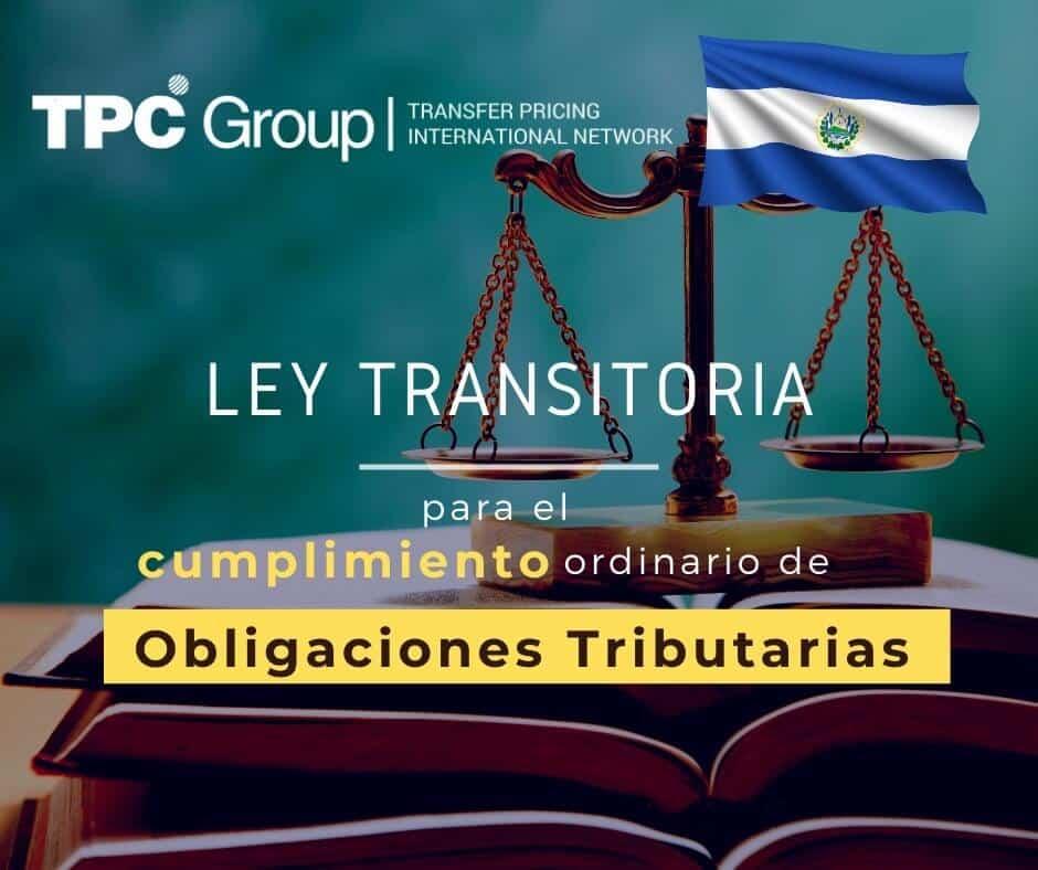 ESTABLECEN LEY TRANSITORIA PARA EL CUMPLIMIENTO VOLUNTARIO EN EL SALVADOR