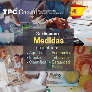 Se dispone medidas en materia agraria, empleo, cinetífica, tributarua y seguridad social en España