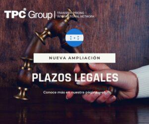 AMPLIACIÓN DE LA SUSPENSIÓN DE PLAZOS LEGALES EN HONDURAS