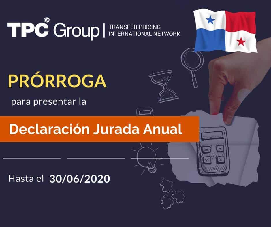 PRÓRROGA DEL PLAZO PARA PRESENTAR LA DECLARACIÓN JURADA ANUAL EN PANAMÁ