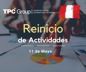 REINICIO DE ACTIVIDADES 11 DE MAYO 2020 EN PERU