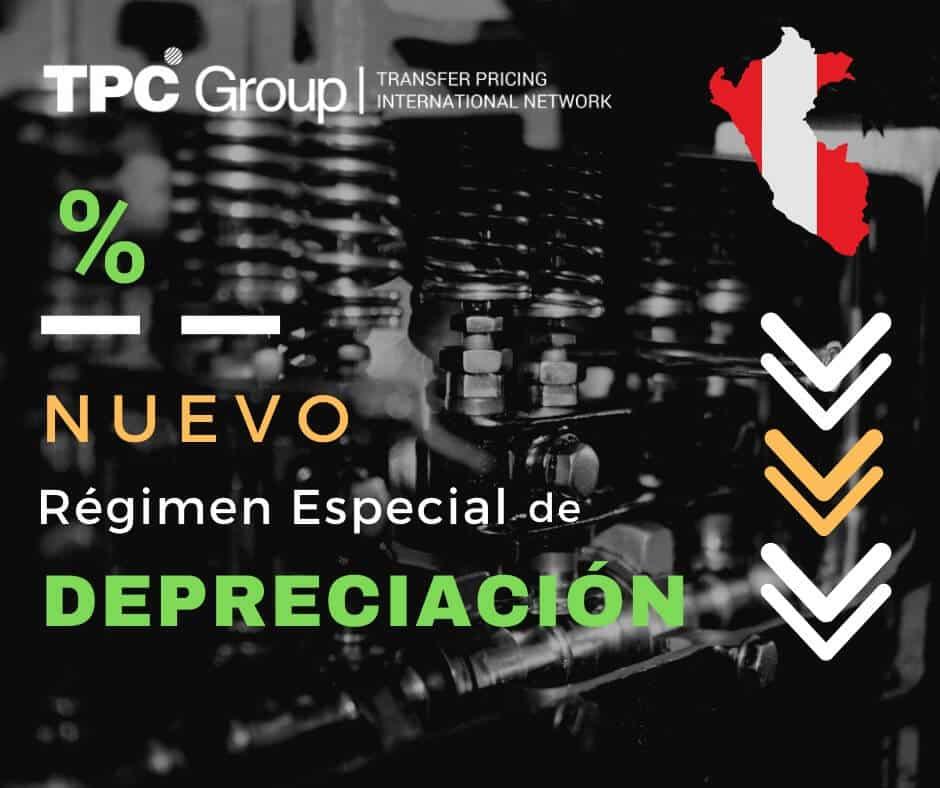 SE ESTABLECE UN RÉGIMEN ESPECIAL DE DEPRECIACIÓN EN PERÚ