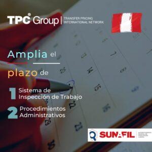 Amplia el plazo de Sistema de Inspección de Trabajo y Procedimiento Admin en Perú
