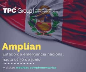 AMPLÍAN ESTADO DE EMERGENCIA HASTA EL 30 DE JUNIO EN PERÚ