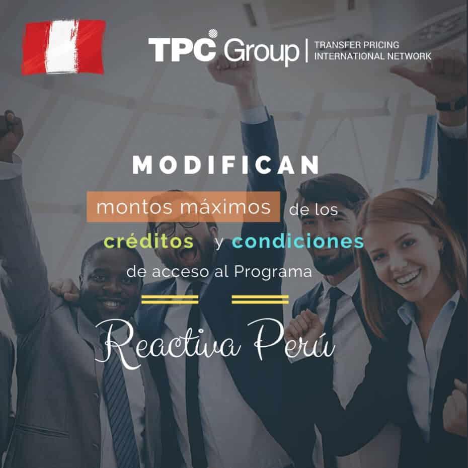 Modifican los-máx. de los créditos y condiciones delacceso al programa Reactiva Perú