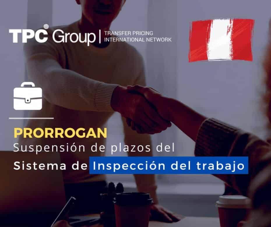 Prorrogan suspensión del plazo del Sistema de Inspección del trabajo en Perú