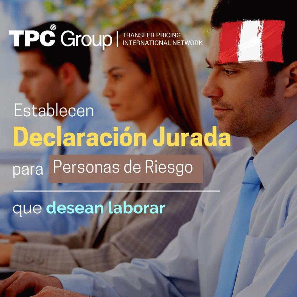 Establecen DJ para personas de riesgo que deseen laboral en Perú
