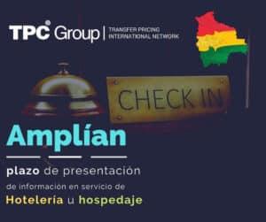 AMPLÍAN EL PLAZO PARA PRESENTACIÓN DE INFORMACIÓN EN SERVICIOS DE HOTELERÍA U HOSPEDAJE en Bolivia