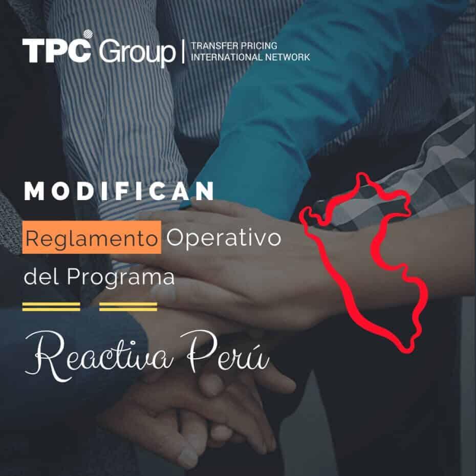 Modifican Reglamento Operativo del Programa