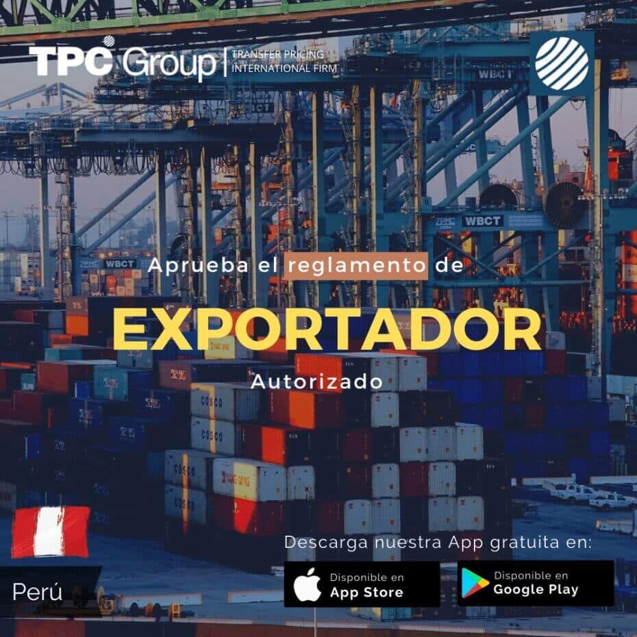 Aprueba el Reglamento de Exportador