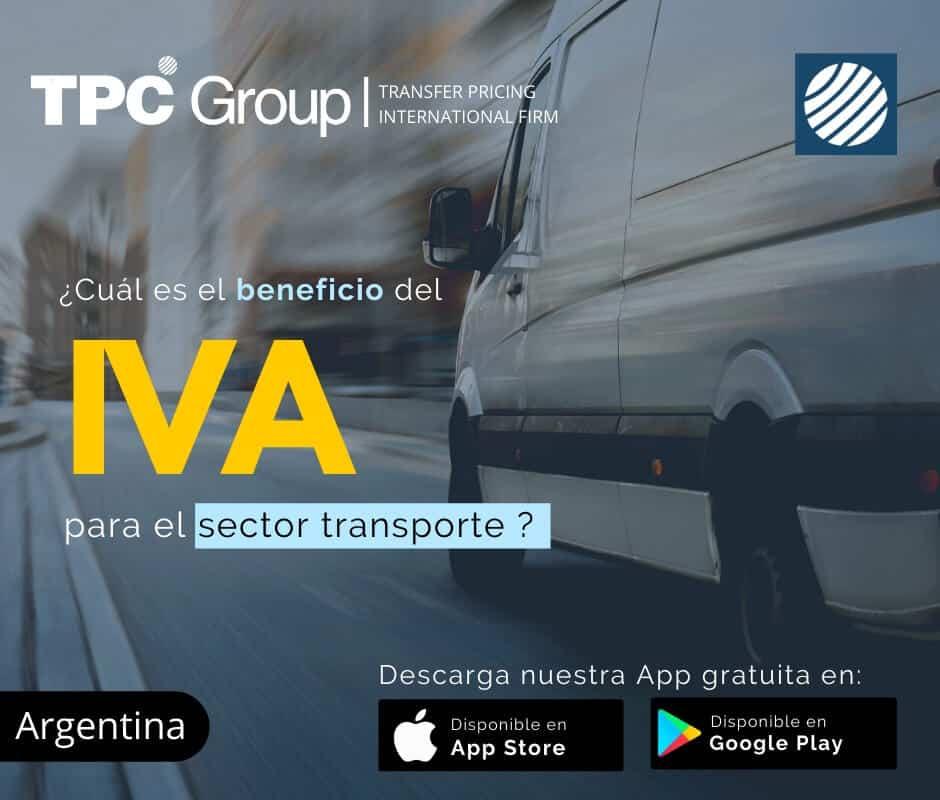 Cuál es el beneficio del IVA para el sector transporte en Argentina