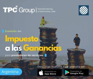 Exención del Impuesto a las Ganacias para prestadores servicios en Argentina