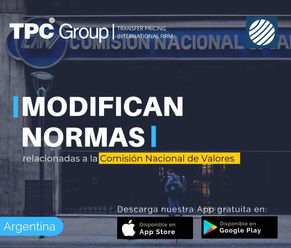 Modifican normas relacionadas a la Comisión Nacional de Valores en Argentina