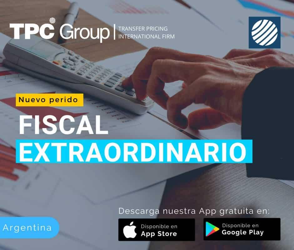 Nuevo periodo fiscal extraordinario en Argentina