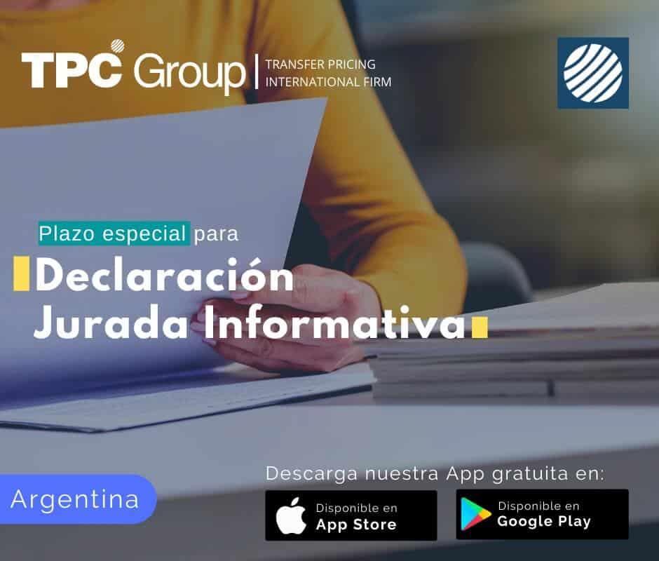 Plazo especial para la declaración jurada informativa en Argentina