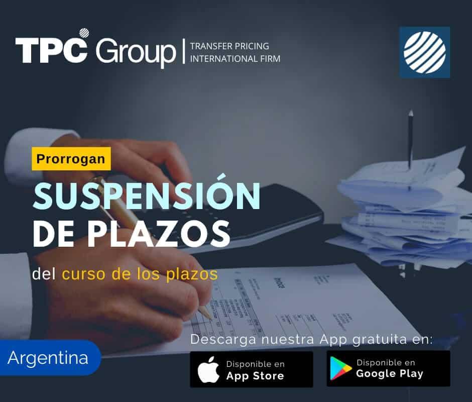 Prorrogan suspensión de plazos del curso de los plazos en Argentina