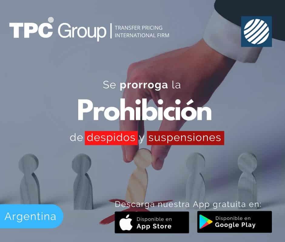 Se prorroga la prohibición de despidos y suspensiones en Argentina