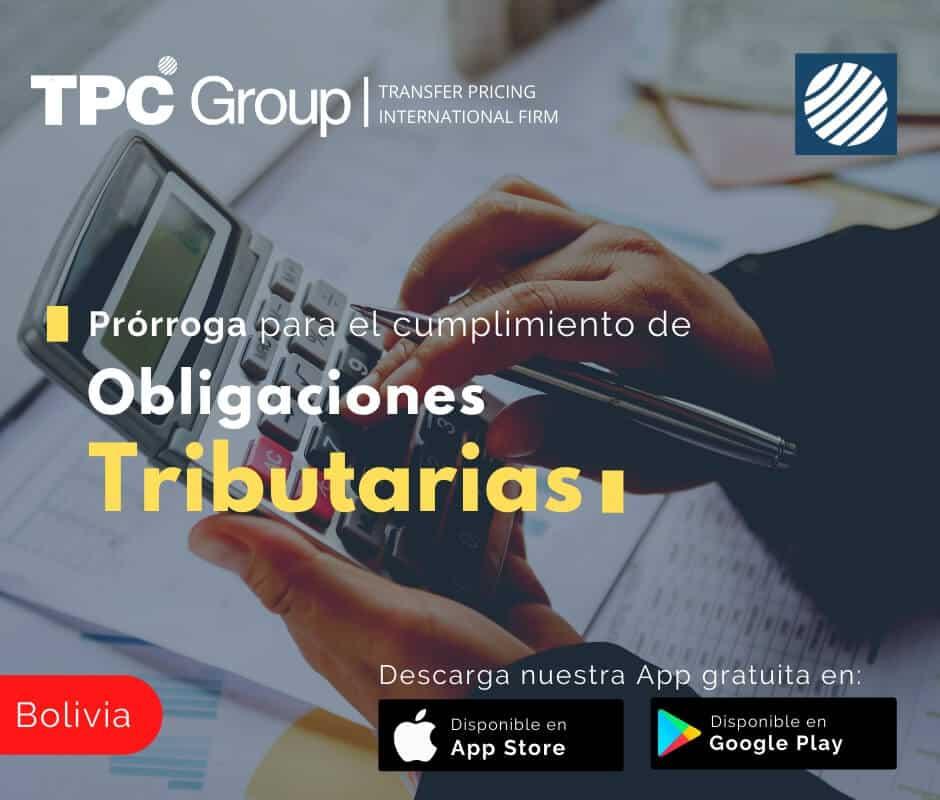 Prórroga para el cumplimiento de obligaciones tributarias en Bolivia