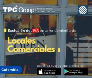 Exclusión del IVA en arrendamiento de locales comerciales en Colombia