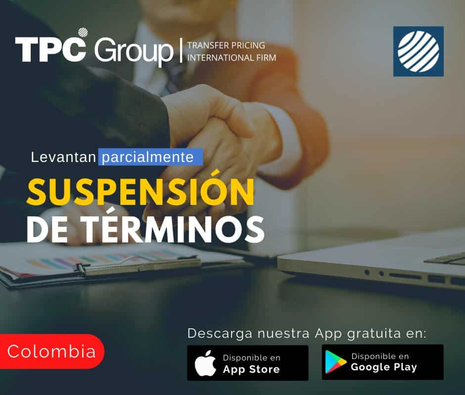 Levantan parcialmente suspensión de términos en Colombia