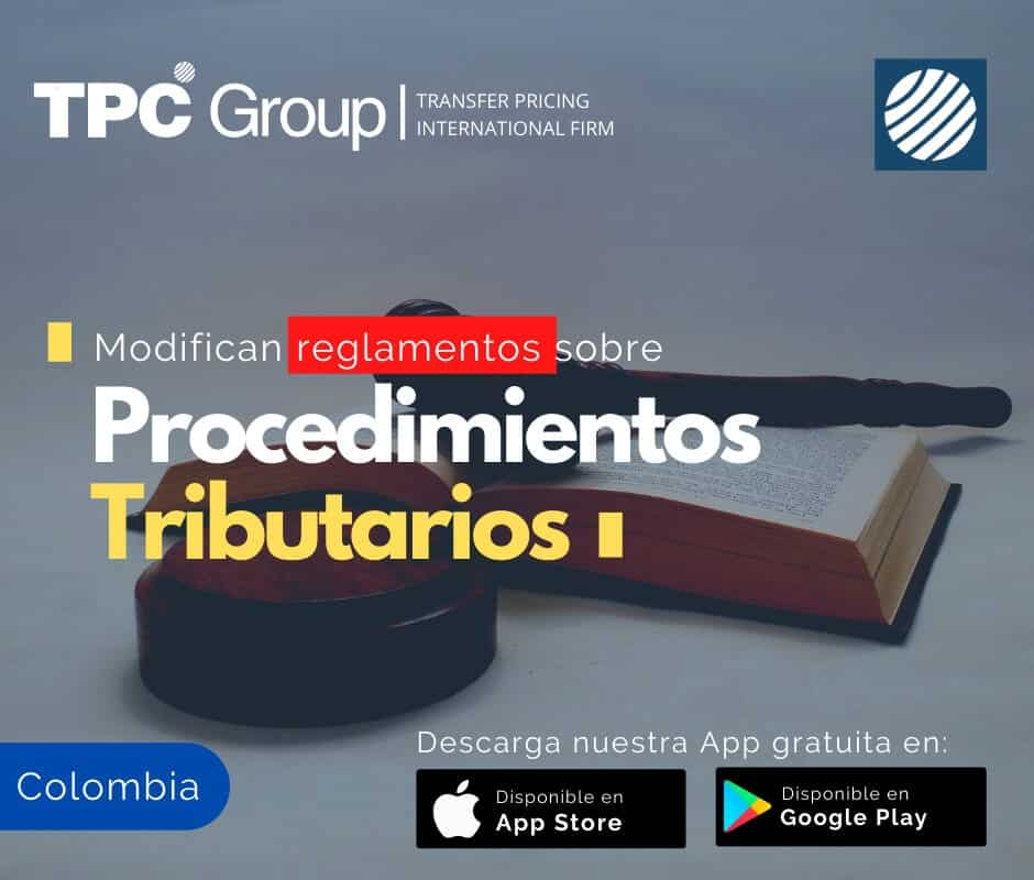 Modifican reglamentos sobre procedimientos tributarios en Colombia