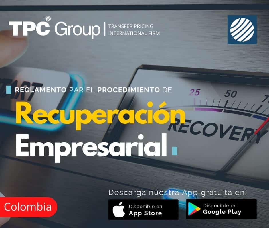 Reglamento para el procedimiento de recuperación empresarial en Colombia