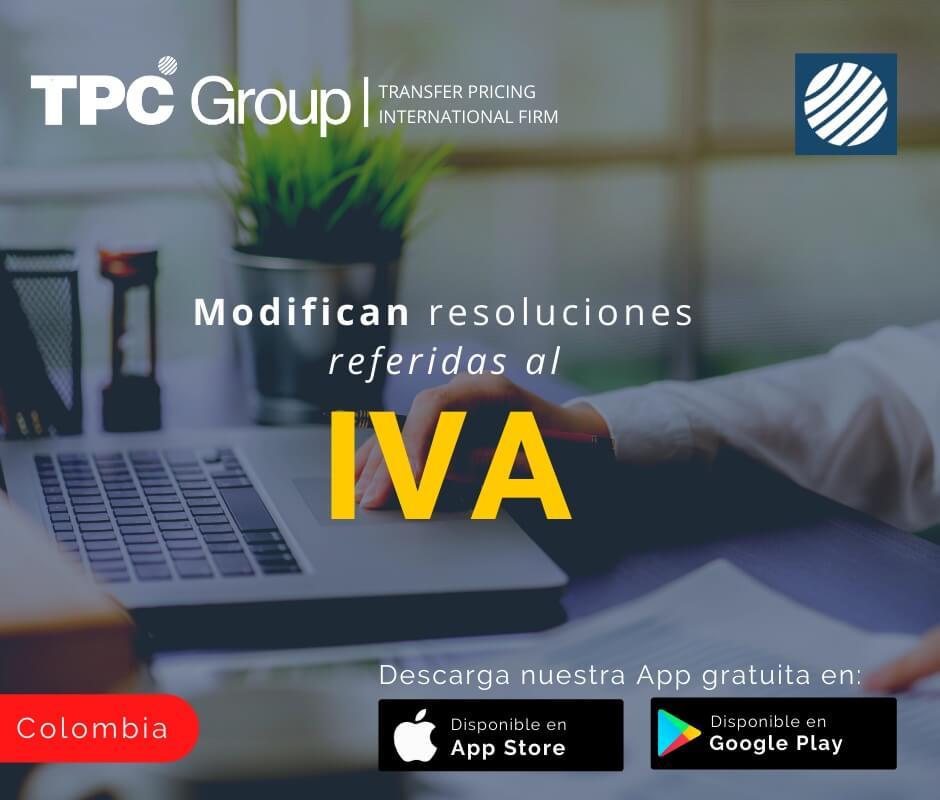 Modifican resoluciones referidas al IVA en Colombia